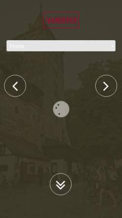 Vorschau der mobilen Webseite www.cafe-wanderer.de, Cafe Bar Wanderer