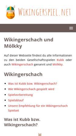 Vorschau der mobilen Webseite wikingerspiel.net, Wikingerspiele
