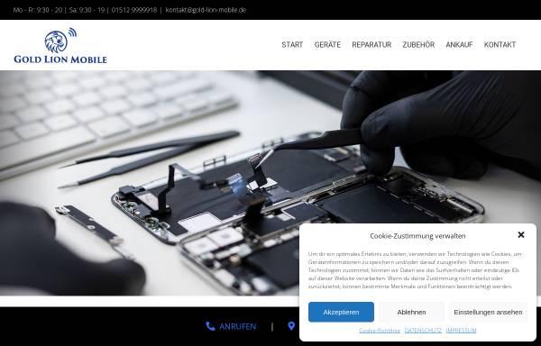 Vorschau von gold-lion-mobile.de, Smarthphone Reparatur
