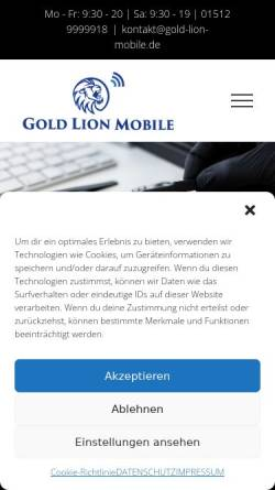 Vorschau der mobilen Webseite gold-lion-mobile.de, Smarthphone Reparatur