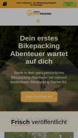 Vorschau der mobilen Webseite simple-bikepacking.de, Simple-Bikepacking
