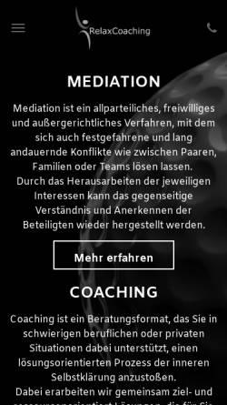Vorschau der mobilen Webseite www.relax-coaching.com, RelaxCoaching