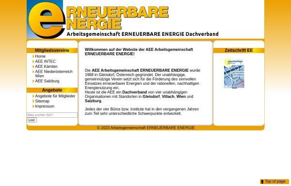 Vorschau von www.aee.at, Arbeitsgemeinschaft Erneuerbare Energie