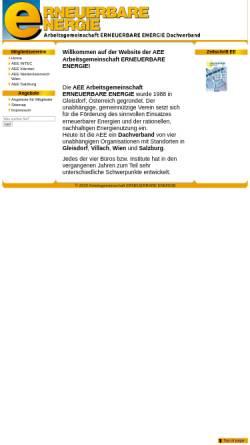Vorschau der mobilen Webseite www.aee.at, Arbeitsgemeinschaft Erneuerbare Energie