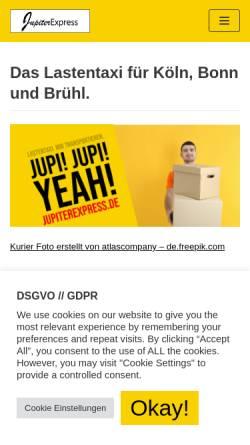 Vorschau der mobilen Webseite www.jupiterexpress.de, JupiterEXPRESS