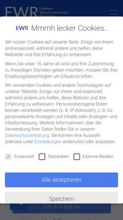 Vorschau der mobilen Webseite express-waschmaschinen-reparatur-berlin.de, EWR Berlin, Sulejmana Suljic