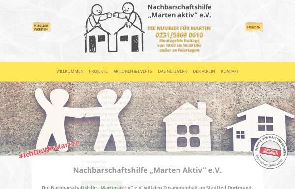 """Vorschau von www.marten-aktiv.de, Nachbarschaftshilfe """"Marten aktiv"""""""