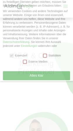 Vorschau der mobilen Webseite www.aldin-vojic.de, SEO & Online Marketing Freelancer - Aldin Vojic