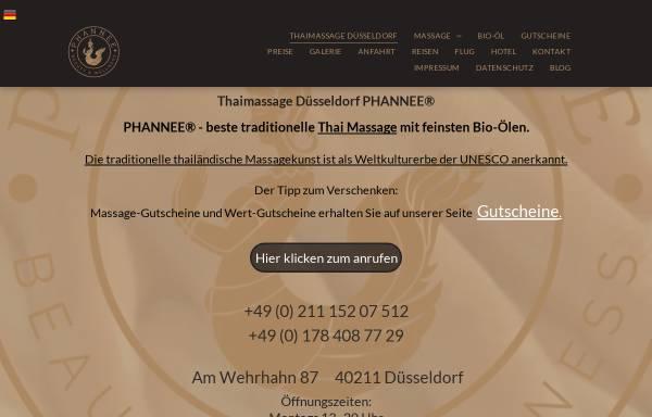 Vorschau von www.phannee.de, PHANNEE® traditionelle Thaimassage