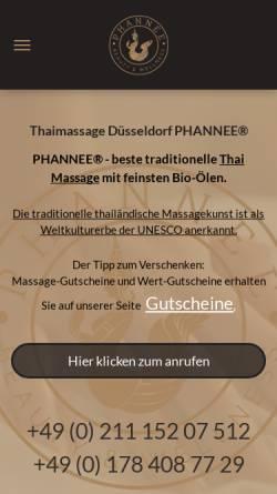 Vorschau der mobilen Webseite www.phannee.de, PHANNEE® traditionelle Thaimassage