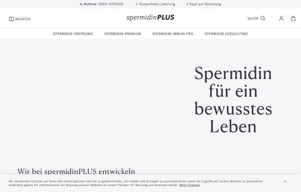 Vorschau von www.spermidin-plus.de, spermidinPlUS
