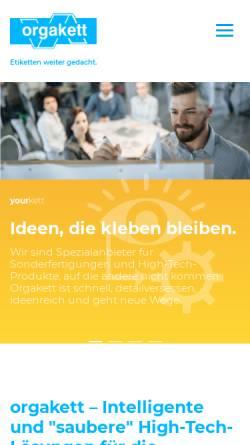 Vorschau der mobilen Webseite www.orgakett-online.de, Orgakett GmbH