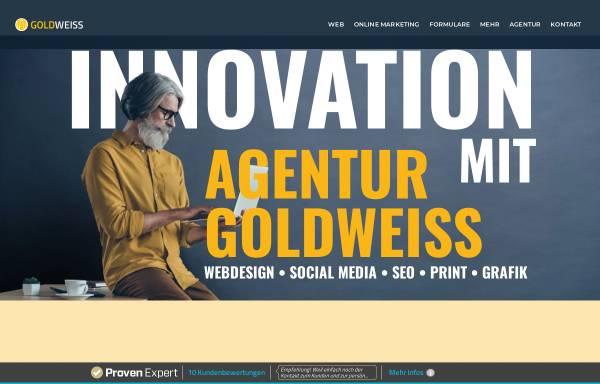 Vorschau von www.agentur-goldweiss.de, Full-Service Werbeagentur
