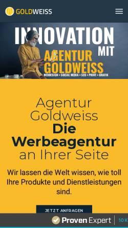 Vorschau der mobilen Webseite www.agentur-goldweiss.de, Full-Service Werbeagentur