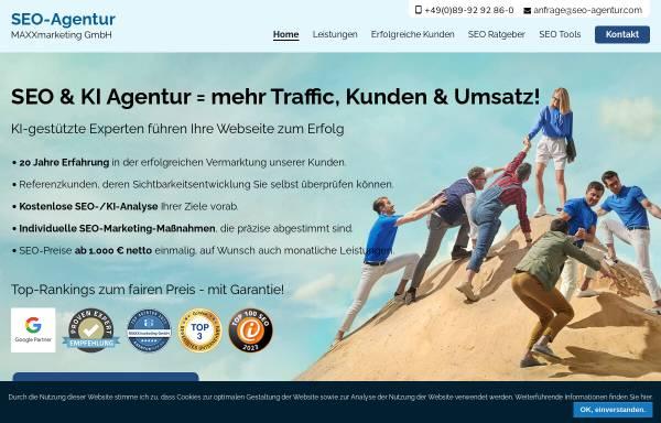 Vorschau von www.seo-agentur.com, SEO Agentur - MAXXmarketing GmbH
