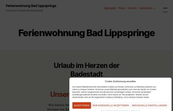 Vorschau von ferienwohnung-bad-lippspringe.de, Ferienwohnung Bad Lippspringe