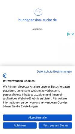 Vorschau der mobilen Webseite www.hundepension-suche.de, Hundepension-Suche