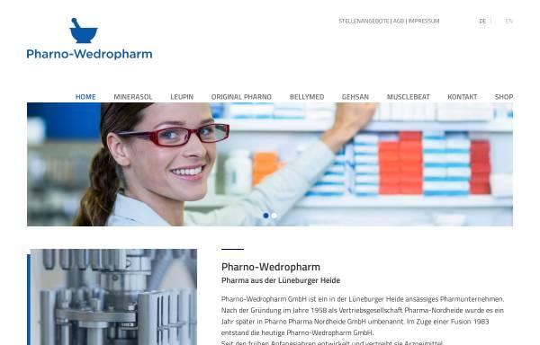 Vorschau von www.pharno.de, Pharno-Wedropharm GmbH