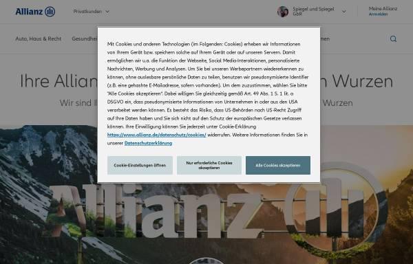 Vorschau von vertretung.allianz.de, Allianz Versicherung Spiegel und Spiegel GbR