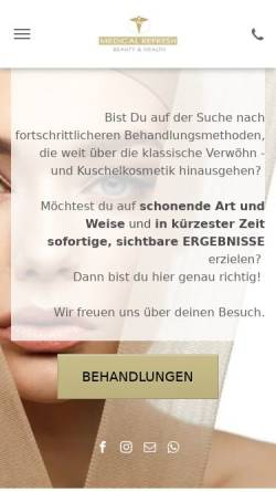 Vorschau der mobilen Webseite www.medical-refresh.de, Medical Refresh Beauty & Health