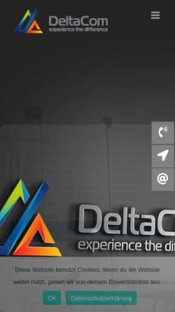 Vorschau der mobilen Webseite www.deltacom.de, DeltaCom GmbH
