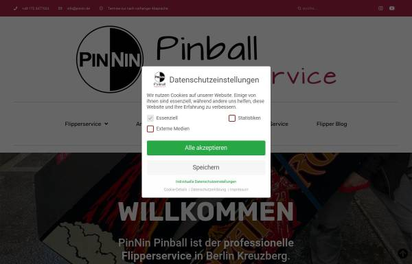 Vorschau von pinnin.de, PinNin Pinball / Flipper- und HiFi-Service
