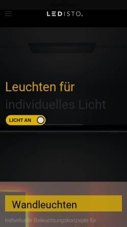 Vorschau der mobilen Webseite ledisto.de, LEDISTO Leuchten GmbH