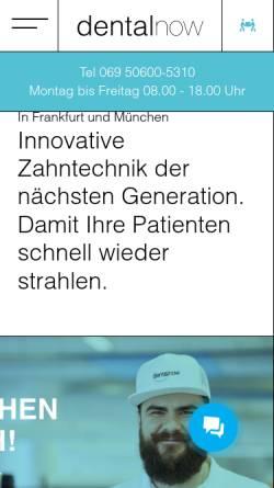 Vorschau der mobilen Webseite www.dentalnow.de, dentalnow GmbH