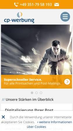 Vorschau der mobilen Webseite www.cp-werbung.de, cp-werbung