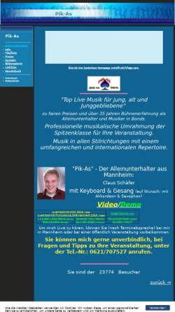 Vorschau der mobilen Webseite pik-as.de.to, Pik-As - Alleinunterhalter