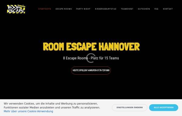 Vorschau von room-escape-hannover.de, Room Escape Hannover