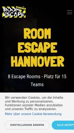 Vorschau der mobilen Webseite room-escape-hannover.de, Room Escape Hannover