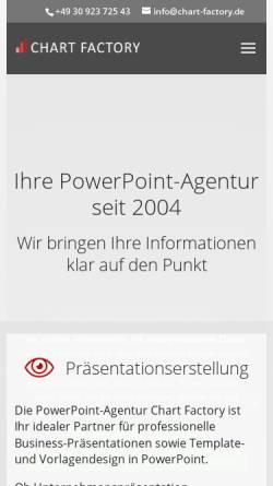 Vorschau der mobilen Webseite chart-factory.de, Chart Factory