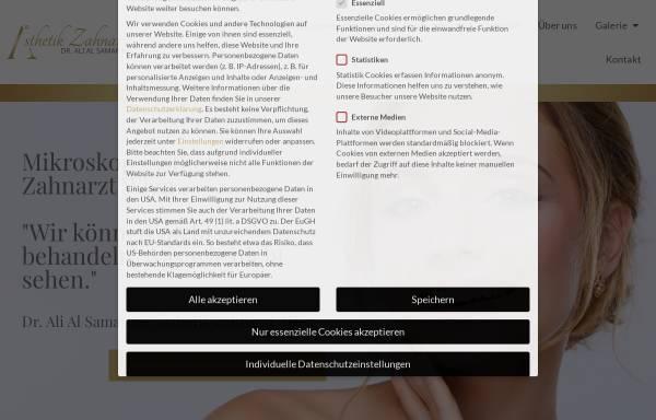 Vorschau von www.aesthetikzahnarzt.at, Zahnarzt Wien - Dr. Ali Al Samarrae