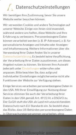 Vorschau der mobilen Webseite www.aesthetikzahnarzt.at, Zahnarzt Wien - Dr. Ali Al Samarrae