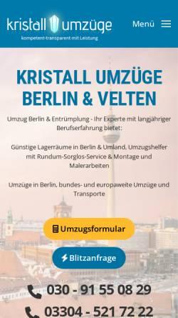 Vorschau der mobilen Webseite www.kristall-umzuege.de, Kristall Umzüge e.K.