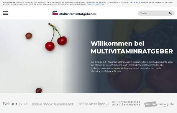 Vorschau von www.multivitaminratgeber.de, Multivitaminratgeber
