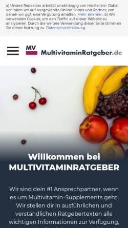 Vorschau der mobilen Webseite www.multivitaminratgeber.de, Multivitaminratgeber