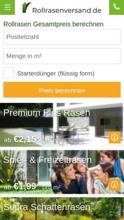 Vorschau der mobilen Webseite www.rollrasenversand.de, Rollrasenversand.de