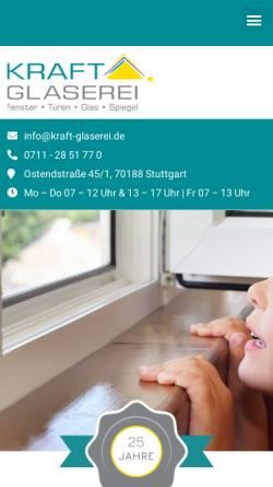 Vorschau der mobilen Webseite www.kraft-glaserei.de, Glaserei Kraft