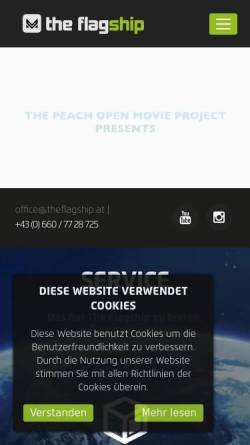 Vorschau der mobilen Webseite theflagship.at, The Flagship