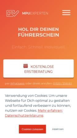 Vorschau der mobilen Webseite mpu-beratung.info, Die MPU-Experten