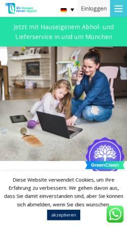 Vorschau der mobilen Webseite wirreinigendeinenteppich.de, Wir Reinigen Deinen Teppich