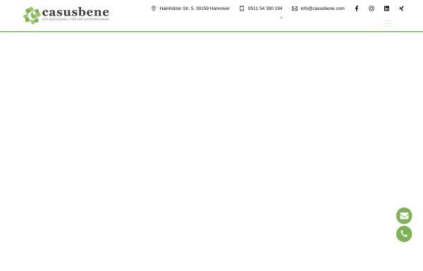 Vorschau von www.casusbene.com, casusbene GmbH Hannover