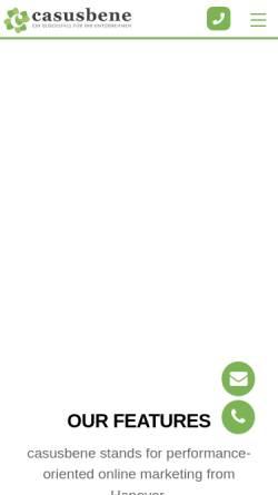Vorschau der mobilen Webseite www.casusbene.com, casusbene GmbH Hannover