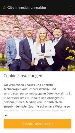 Vorschau der mobilen Webseite city-immobilienmakler.de, City Immobilienmakler GmbH