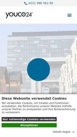 Vorschau der mobilen Webseite youco24.de, Youco24 Vorratsgesellschaften GmbH