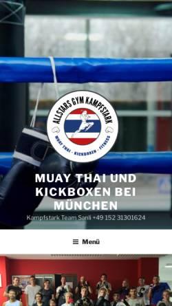 Vorschau der mobilen Webseite kampfstark.com, Kampfstark Team Sanli