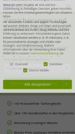 Vorschau der mobilen Webseite www.onverso.de, ONVERSO
