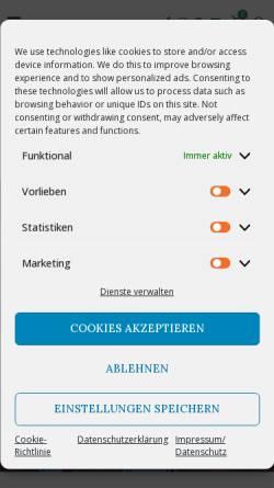 Vorschau der mobilen Webseite hoffmanns-ballonshop.de, Hoffmanns-Ballonshop